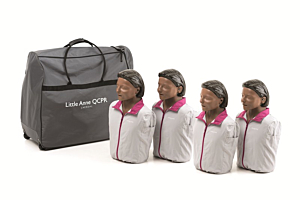 Laerdal Little Anne QCPR 4er-Pack (dunkel)