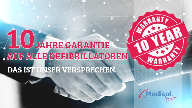 10 Jahra Garantie bei Ankauf eines Defibrillators bei AEDverkauf.at!