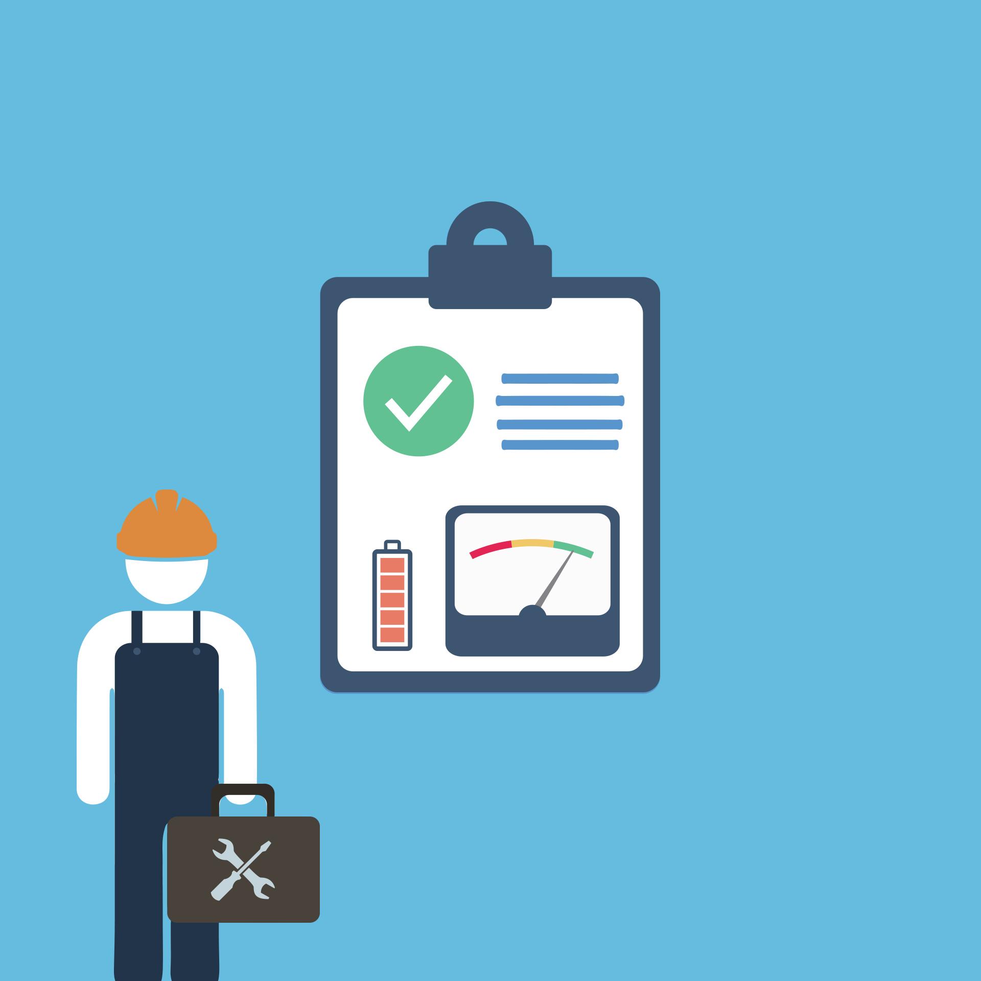 Defibrillator Überprüfung